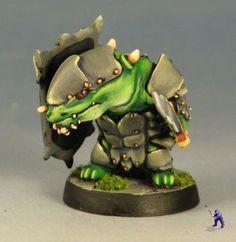 Super Dungeon Explore Kobold mini painted green