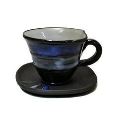 Shigaraki Pottery Blue Sky Coffee Cup and Saucer Set W80801 ** You can find more details by visiting the image link.