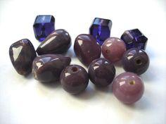 Purple glass bead mix by allthatglittersbeads on Etsy, $3.20