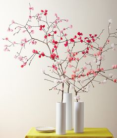 Make It Yourself: A Spring Bouquet of Paper Cherry Blossoms from InStyle.com