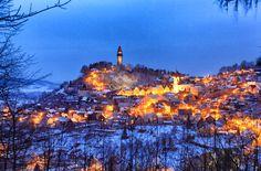 Winter evening • City Strallenberg (Štramberk) • Czech Republic