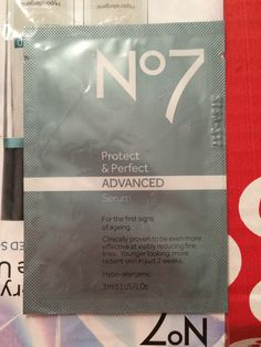 No7 Protect and Perfect ADVANCED Serum I received these products complimentary from Influenster to test and review in my Frosty VoxBox. #FrostyVoxBox #Influenster #GetADVANCED