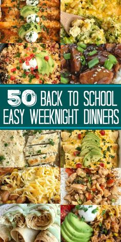 Easy dinner recipes - Best Back to School Dinners Dinner Recipes Back to School You can still get a delicious and quick dinner on the table even on busy backtoschool weeknights This list of the best back to school Easy Family Dinners, Fast Dinners, Easy Weeknight Dinners, Healthy Quick Dinners, Healthy Kid Friendly Dinners, Cheap Easy Dinners, Easy Dinners For One, Inexpensive Meals, Fast Easy Meals