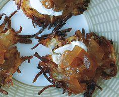 Potato Latkes Recipe | Epicurious.com