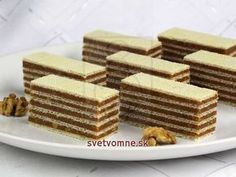 A recipe for fantastic caramel nut Grilážky that has been tested for years. Party Desserts, Mini Desserts, Cookie Desserts, Christmas Desserts, No Bake Desserts, Christmas Baking, Dessert Recipes, Chocolate Apples, Chocolate Desserts