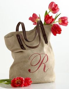Personalized totes. So cute!