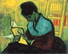 Une liseuse de romans Vincent Van Gogh Reproduction | 1st Art Gallery