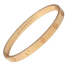 View this item and discover similar for sale at - This iconic bracelet began in New York, the LOVE yellow-gold bracelet from Cartier seals a love that defies boundaries. Love Bracelets, Cartier Love Bracelet, Bangles, Cartier Gold, Diamond Bangle, Chains, Ootd, King, Jewellery
