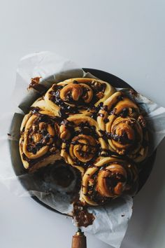 Dulce de Leche Rolls (with chocolate chips and walnuts)