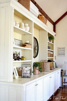 recreate this look with Billy bookcases & stock base cabinets...