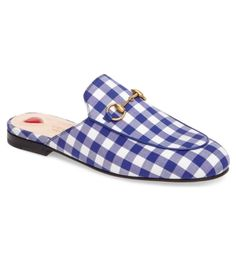 Gucci Gingham Loafer Mule
