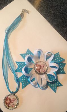 6bb9e54e71e49f Frozen hairbow and necklace set now on sale use by CholesBows Necklace Set