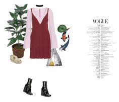 """I'm a riddle"" by soft-ly ❤ liked on Polyvore featuring AZUMI AND DAVID, Marni, Marc Jacobs, cute, Dark, 90s and highfashion"
