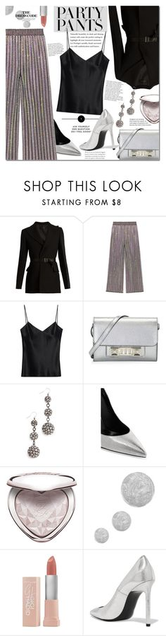 """""""#PolyPresents: Fancy Pants"""" by mery90 ❤ liked on Polyvore featuring Calvin Klein Collection, Gucci, Galvan, Proenza Schouler, Lulu Frost, Yves Saint Laurent, Too Faced Cosmetics, Topshop, Maybelline and contestentry"""