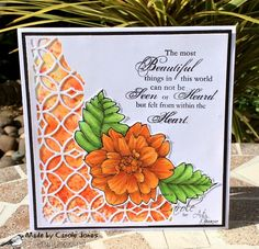 Craftilicious Creations: Artsystamper: Fall Flowers Die Cut Cards, Digi Stamps, Fall Flowers, Copic Markers, My Stamp, In This World, Poppies, Challenges, Invitations