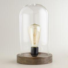 Edison Glass Cloche Table Lamp | World Market