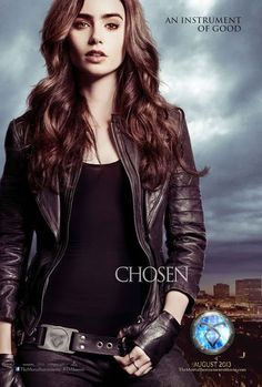 Lily Collins as Clary Fray.