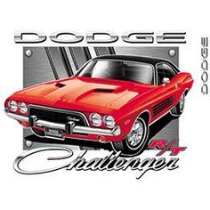 Vintage Red Dodge Challenger Licensed Car T Shirt UNISEX T Shirt 20429HL2