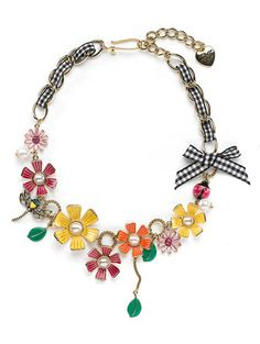 Girly charm necklace, from Betsy Johnson.