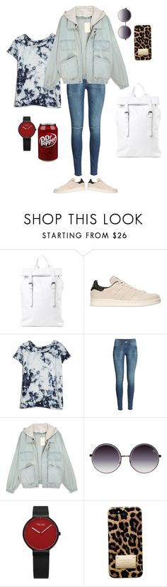 """""""town girl"""" by dory013 ❤ liked on Polyvore featuring Asya Malbershtein, adidas Originals, Current/Elliott, H&M and Michael Kors"""
