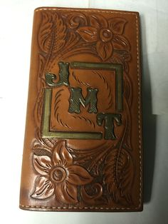 Card and memo book front w/ my initials. I also made the initials from German silver and the bars from jewelers brass.