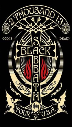 Shepard Fairey ~ Black Sabbath Classic heavy metal rock psychedelic music poster ☮~ღ~*~*✿⊱ レ o √ 乇 ! ~: Shepard Fairey ~ Black Sabbath Classic heavy metal rock psychedelic music poster ☮~ღ~*~*✿⊱ レ o √ 乇 ! Black Sabbath Tour, Black Sabbath Concert, Poster Retro, Poster S, Tour Posters, Band Posters, Jimi Hendricks, Rock Y Metal, Heavy Metal Art