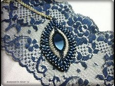 ▶ Bead DIY video tutorial Victorian Decadence pendant| swarovski superduo and delica beads - YouTube
