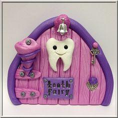 Girls Large Indoor Clay Tooth Fairy Door by MistsofAzura on Etsy