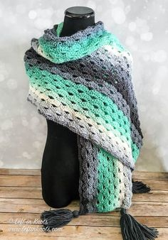 Stormy Days Wrap Free Crochet Pattern | Left in Knots | Bloglovin'