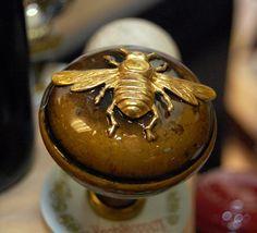 This antique door knob is the bee's knees!