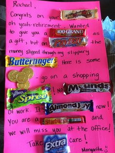 Candy card - retirement Made this for my co-worker/friends retirement :)