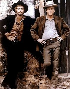 Robert Redford, Paul Newman ...all time favorite duo...two most handsome actors & movie role of all time!