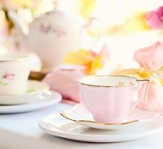 Pastel Tea Cups   Shabby Chic