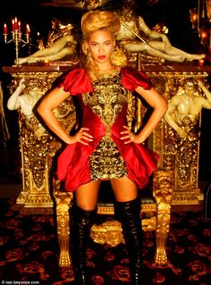 Watch the Throne: Husband Jay-Z better watch his back as wife Beyonce posted a photo of herself channeling French Queen Marie Antoinette today