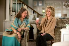 """Lily Tomlin and Jane Fonda in a lighter moment in """"Grace and Frankie,"""" a new Netflix series."""