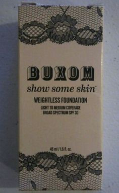 Buxom Show Some Skin Weightless Foundation SPF 30 Almond The Nude 1.5oz #Buxom