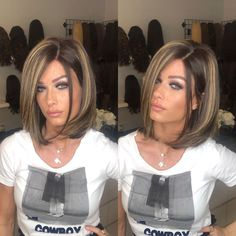 Dark Brown Hair with Cinnamon Balayage - 20 Must-Try Subtle Balayage Hairstyles - The Trending Hairstyle Short Hair Wigs, Short Hair Styles, Wigs With Bangs, Wig Hairstyles, Straight Hairstyles, Short Haircuts, Stylish Short Hair, Short Straight Hair, Thin Hair
