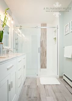 Most Simple Tricks: White Kitchen Remodel Tips kitchen remodel tips easy diy.Kitchen Remodel Plans Bedrooms kitchen remodel tips home ideas.Kitchen Remodel Tips House. Wood Bathroom, Bathroom Renos, Basement Bathroom, Bathroom Flooring, Bathroom Renovations, Small Bathroom, Bathroom Spa, Beachy Bathroom Ideas, Bathroom Closet