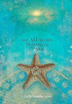Not all stars are in the sky ♥♥♥ ocean wishing stars