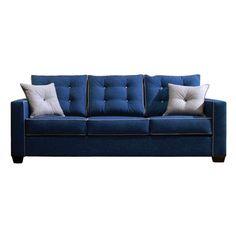 Stocksund Sofa Ljungen Blue Light Brown Wood Sofas