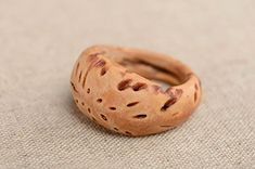 Peach Pit Ring 13 Mm
