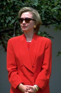 Image result for hillary clinton in red