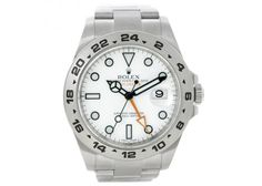 Rolex Explorer II Men's Steel White Dial Watch 216570