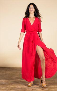 SilkFred (Dancing Leopard): Zahara Dress In Scarlet Red