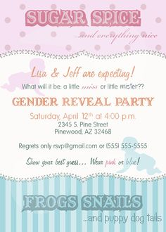 Items similar to Spice Tails - Fraternal Twins - Invitation on Etsy