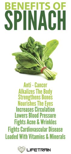 Health benefits of spinach, http://www.shopcost.co.uk/