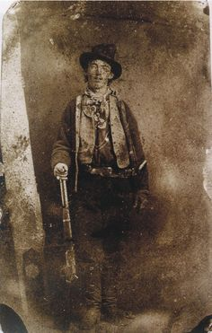 Only Known Authenticated Photograph of Billy the Kid, c.1879 -'The only known authenticated portrait of the notorious outlaw Billy the Kid has sold for $2.3m (£1.4m) at auction in Denver, in the US state of Colorado. The tintype – an early form of photo using metal plates – is believed to have been taken in 1879 or 1880 in Fort Sumner, New Mexico.