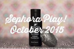 Sephora Play Subscription Service - October 2015 Box