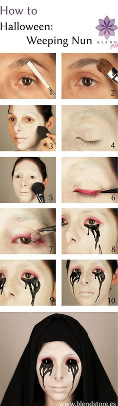 Okay…maybe a crying dead nun is up there, too! halloween makeup halloween costume diy ideas