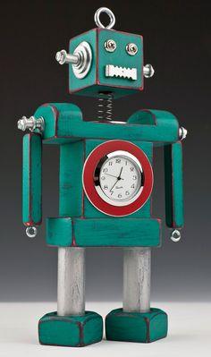robot clock fun colors